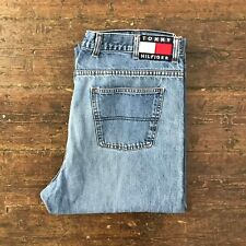 e44b061d9 Vintage TOMMY HILFIGER Mens Denim Jeans | Loose Fit 90s | W38 L30 Blue