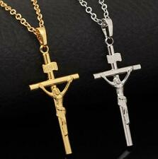 Unisex's Men Fashion Jesus Cross Crucifix Pendant Chain Necklace Jewelry Gift