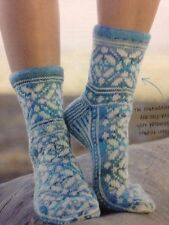 Ladies Fair Isle Patterned Ankle Socks 4 Ply KNITTING PATTERN