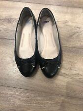 M&S Woman Black Flat Shoes Uk5/eur38 Used