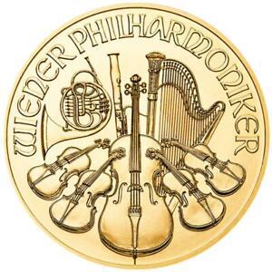 Österreich - 25 Euro 2021 - Wiener Philharmoniker - Anlagemünze - 1/4 Oz Gold ST