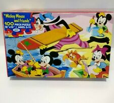 """Mickey Mouse and Friends Jigsaw Puzzle 100 Pieces 18"""" X 13"""" Jaymar"""