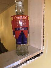 Vintage Smirnoff Vodka Glass Soldier Nutcracker Decanter - Rare