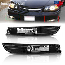 for 2000-2005 Chevy Impala Clear Lens Front Bumper Driving Fog Lights Lamps L+R