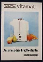 Original Bedienungsanleitung + Garantieschein Vitamat um 1950 Entsafter sf