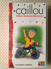 ABC FOR KIDS ~ CAILLOU'S BACKYARD ADVENTURES ~ VHS VIDEO