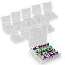 10x BATTERIA AA AAA casi di stoccaggio sicuro titolare batterie ricaricabili casi difficili
