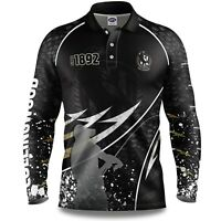 AFL 2020 Long Sleeve Fishing Polo Tee Shirt - Collingwood Magpies - Adult Youth