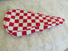 NOS BMX Flite Pad STEM Checkered Red and White Old School BMX
