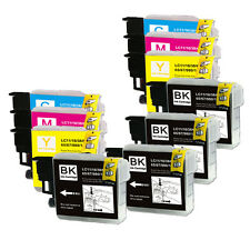 10PK Ink Cartridge Set Compatible for Brother LC61 MFC J220 J265W J270W J410W