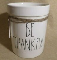 New Rae Dunn Be Thankful Utensil Holder Black Lettering White Artisan Collection