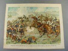 108417, Farbiger Druck Kürassier Angriff Vionville Mars La Tour 16.8.1870