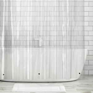 "mDesign X-LONG Waterproof Vinyl Shower Curtain Liner - 96"" Long - Clear"