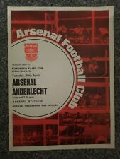 More details for arsenal v anderlecht 1970 fairs  cup final