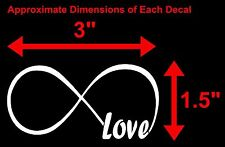 LOVE INFINITY FOREVER SYMBOL VINYL DECAL CAR WINDOW BUMPER STICKER HEART FAMILY