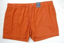 NEW M&S LADIES SHORTS LINEN RICH SIZE 22  COLOUR RUST FREE P&P