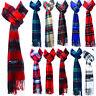 Mens Womens Winter Stewart Plaid Wool SCOTLAND Made 100% CASHMERE Scarf Scarves
