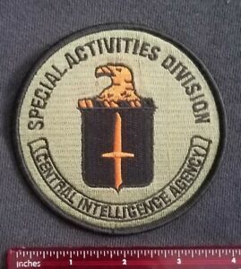 Patch CIA Special Activities Division Law Enforcement COVERT OPS Police NSA