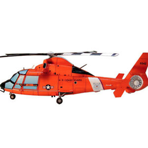 44cm 1:48 3D Paper Model HH-65A Dolphin USCG Eurocopter Helicopter Aircraft DIY