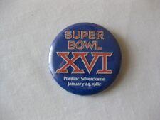 Vintage, Super Bowl 16 Pin, Pontiac Silverdome in MI, Jan 24,1982