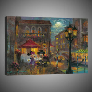Painting Print Canvas Home Wall Art Decor Disney Mickey Minnie Anniversary 12x16