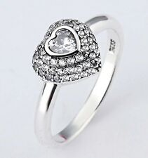 Brighton Silver Heart Stack Ring Sterling Silver .925 Size 5