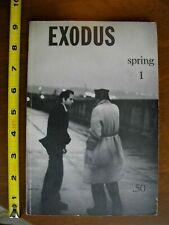 EXODUS Beatnik Quarterly (1959) Daniel Wolf Signed! Greenwich Village Voice 1 ed