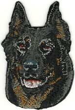 "1 5/8"" x 2 1/2"" Beauceron Dog Breed Portrait Embroidery Patch"