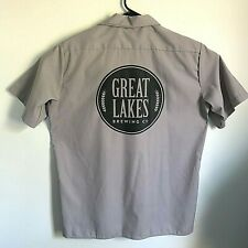 Great Lakes Brewing Co. Men Large Button Down Short Sleeve Work Shirt Dickies