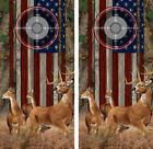 Cornhole Board Wraps American Flag Buck Does Deer Scope Forest Camo 2 pack 11