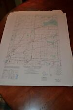 1940's Army topographic map Byron  New York -Sheet 5370 II SE