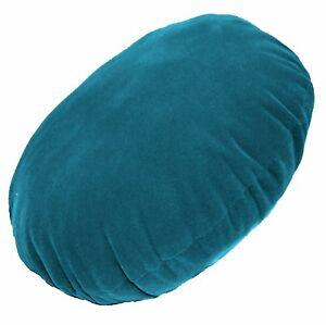 mb69n Teal Blue Plain Round Velvet Style Cushion Cover/Pillow Case Custom Size