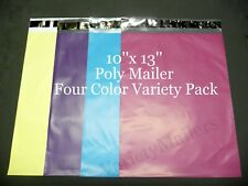 100 Poly Bag Mailer 4 Color Assortment 10x13 Shipping Envelope Bags