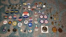 Vintage Political Campaign Button and Lapel Pin Lot - Nixon Goldwater Wllkie