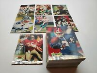 1992 Topps Stadium Club Football Cards high series complete set missing Favre