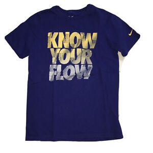 Boys Navy Blue NIKE T-Shirt Size Medium