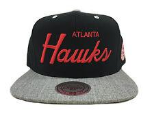 ATLANTA HAWKS HEATHER SPECIAL SCRIPT BLACK Mitchell & Ness Snapback Hat