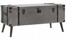 Industrial Style Coffee Table Storage Box 2 Interior Compartments Vintage Retro
