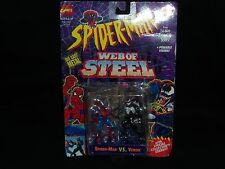 Marvel Comics Spider-Man VS. Venom Action Figures Die-Cast Metal Web of Steel