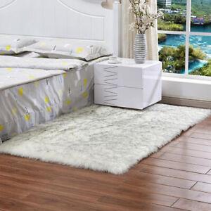 Faux Fur Fluffy Rug Non-Skid Shaggy Mats Bedroom Living Room Floor Furry Carpet
