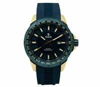 Slava SL10242 Quartz Analog Waterproof Mens Wrist Watch Calendar Rubber Band