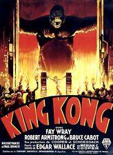 King Kong Fay Wray 1933 cult movie poster print #A13