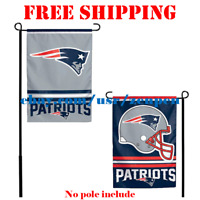 "New England Patriots Logo Garden Outdoor Flag Double Sides 12x18"" NFL 2019 NEW"