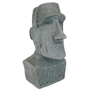 Design Toscano Easter Island Ahu Akivi Moai Monolith Garden Statue, Large 61 cm,