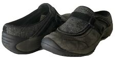 Merrell Encore Sidestep Clogs Mules Wool Nubuck Suede Shadow Gray Women's 7.5B