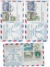 1953 Rangoon Burma SIX PAA Pan American Airways First Flights Hawaii India Japan