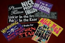 Vintage Naughty Adult Themed Glossy Stickers Mature Funny Sexual Innuendo Humor