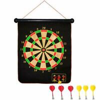 Hanging Magnetic Dart Board Set with 6 Magnetic Darts for Indoor and Outdoor