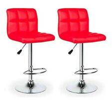New Leather Bar Stools Kitchen Chair White Red Stool Leather Barstools AUS 2x