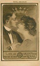 Arcadian Fraternal Royal Arcanum artist impression  C-1910 Postcard 20-352